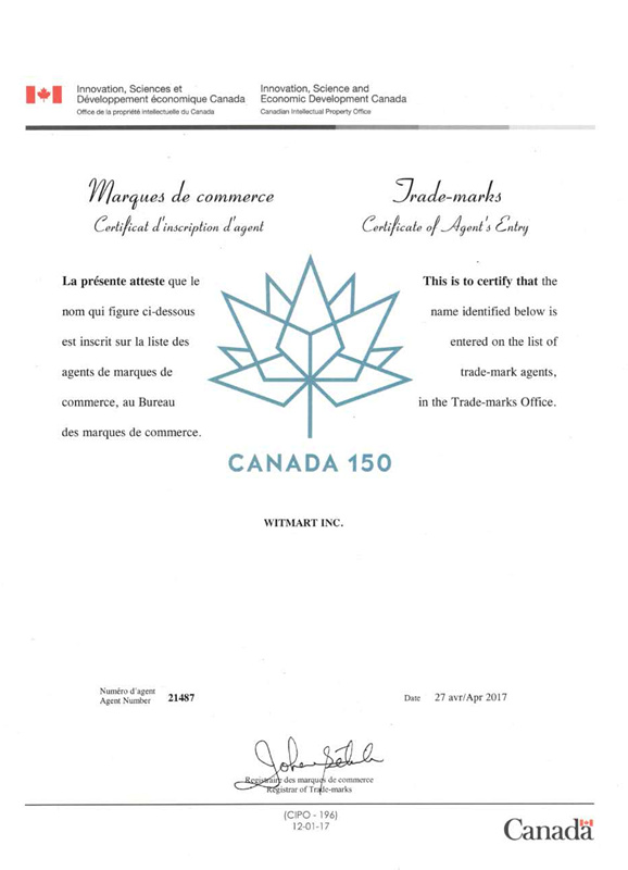 Canada Trademark Search & Registration Services   Witmart